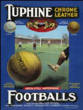 Tuphine Leather Footballs - Metal Wall Sign (2 sizes)